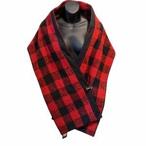 NWT Ruelle Buffalo check shawl shrug scarf